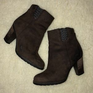 Timberland Heeled Leather Booties